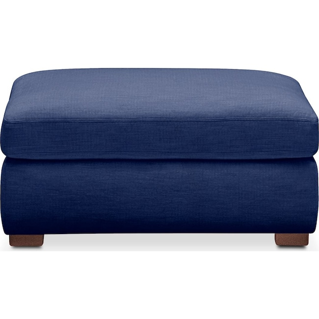 Living Room Furniture - Asher Ottoman- Cumulus in Abington TW Indigo