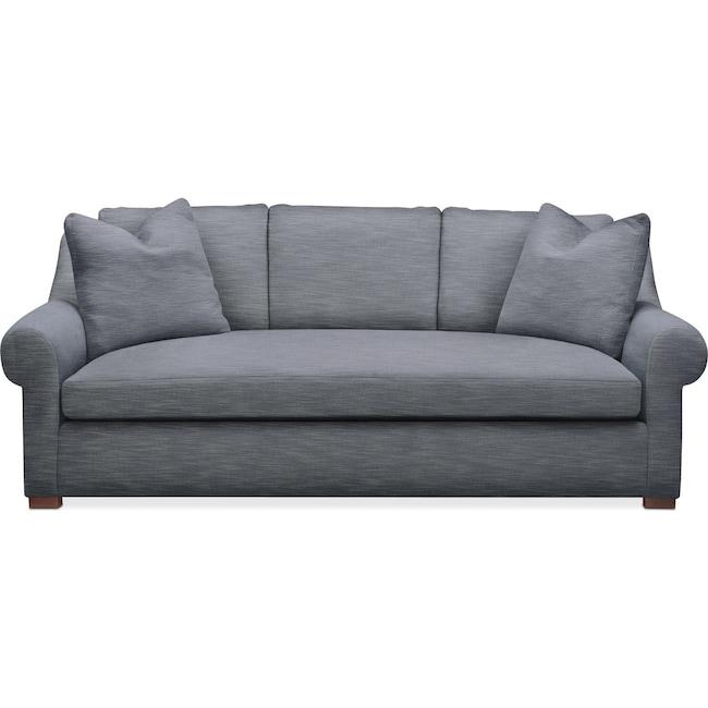 Living Room Furniture - Asher Sofa- Cumulus in Dudley Indigo