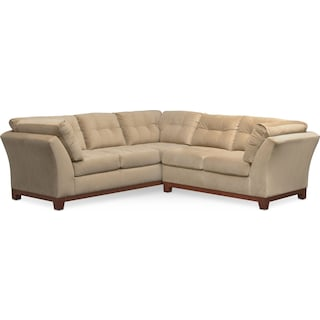 Sebring 2-Piece Sectional with Right-Facing Loveseat - Cocoa