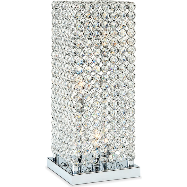 Home Accessories - Crystal Tower Table Lamp
