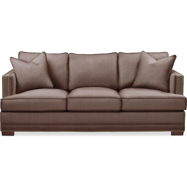 Living Room Furniture - Arden Sofa- Comfort in Oakley III Java