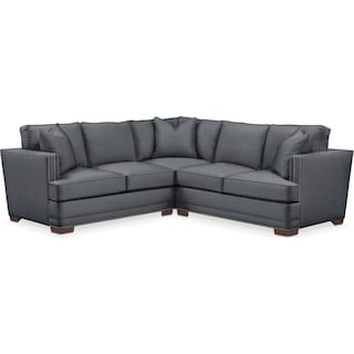 Arden 2 Pc. Sectional with Right Arm Facing Loveseat- Cumulus in Milford II Charcoal