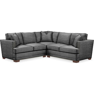 Arden 2 Pc. Sectional with Right Arm Facing Loveseat- Cumulus in Curious Charcoal