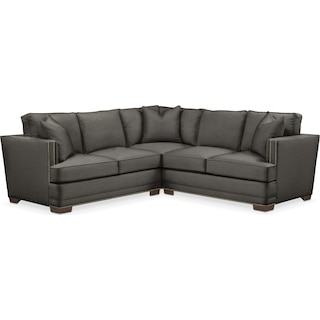 Arden 2 Pc. Sectional with Right Arm Facing Loveseat- Cumulus in Statley L Sterling