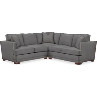 Arden 2 Pc. Sectional with Right Arm Facing Loveseat- Cumulus in Hugo Graphite