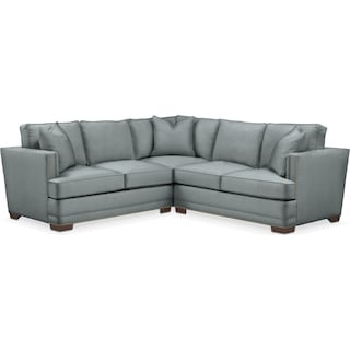Arden 2 Pc. Sectional with Right Arm Facing Loveseat- Cumulus in Abington TW Seven Seas
