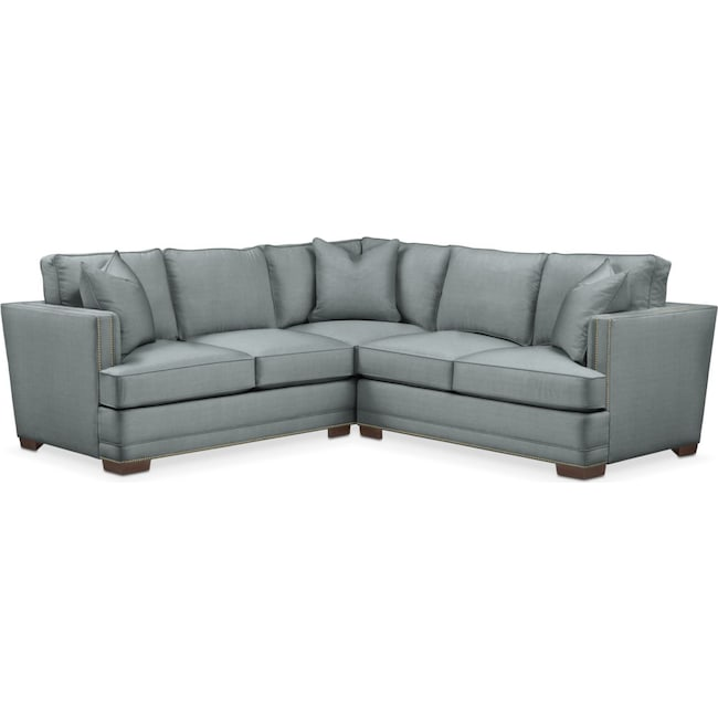 Living Room Furniture - Arden 2 Pc. Sectional with Right Arm Facing Loveseat- Cumulus in Abington TW Seven Seas