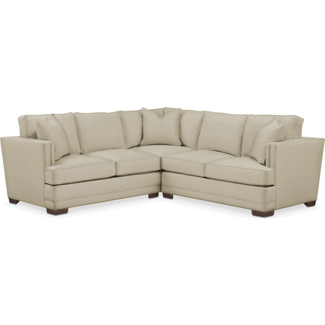 Living Room Furniture - Arden 2-Piece Sectional with Right-Facing Loveseat - Cumulus in Abington TW Barley