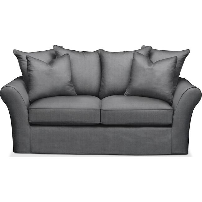 Living Room Furniture - Allson Apartment Sofa- Comfort in Depalma Charcoal