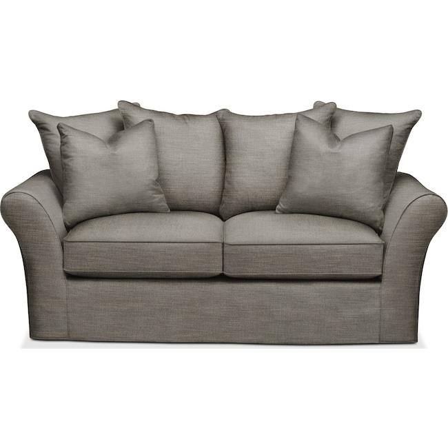 Living Room Furniture - Allson Apartment Sofa- Comfort in Victory Smoke