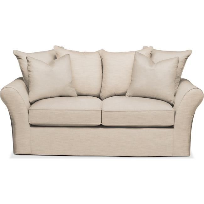 Living Room Furniture - Allson Apartment Sofa- Comfort in Victory Ivory