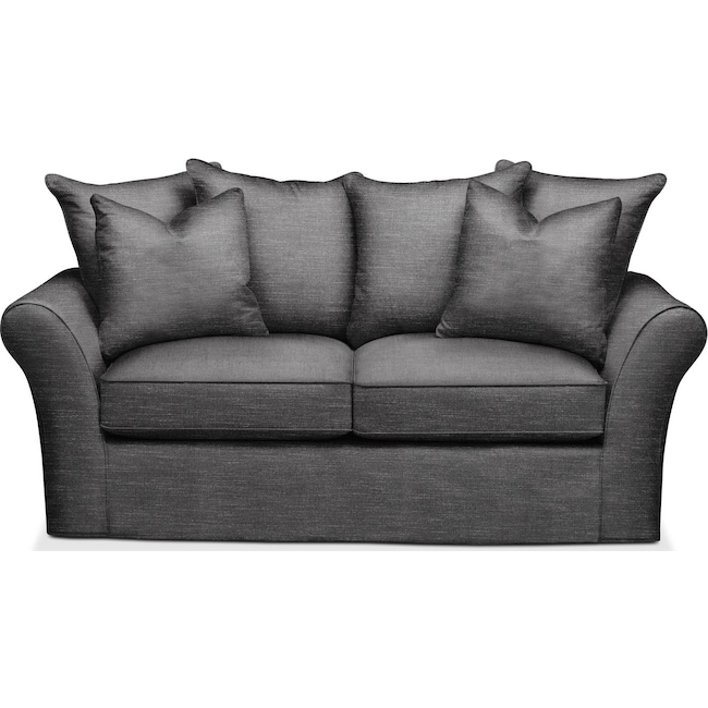 Living Room Furniture - Allson Apartment Sofa- Comfort in Curious Charcoal