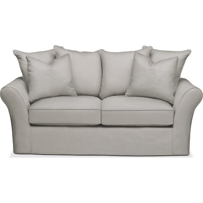 Living Room Furniture - Allson Apartment Sofa- Comfort in Dudley Gray