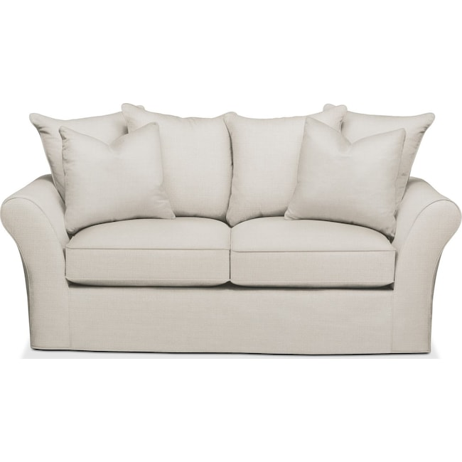 Living Room Furniture - Allson Apartment Sofa- Comfort in Anders Ivory