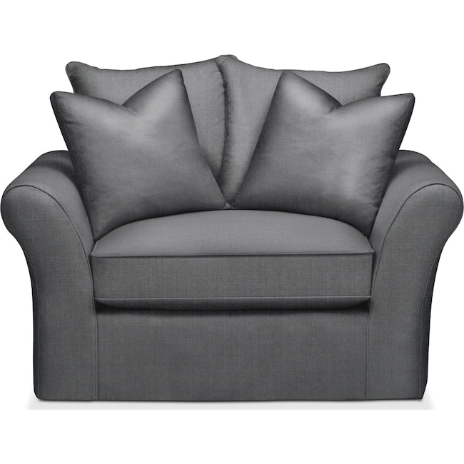 Living Room Furniture - Allison Chair and a Half- Comfort in Depalma Charcoal