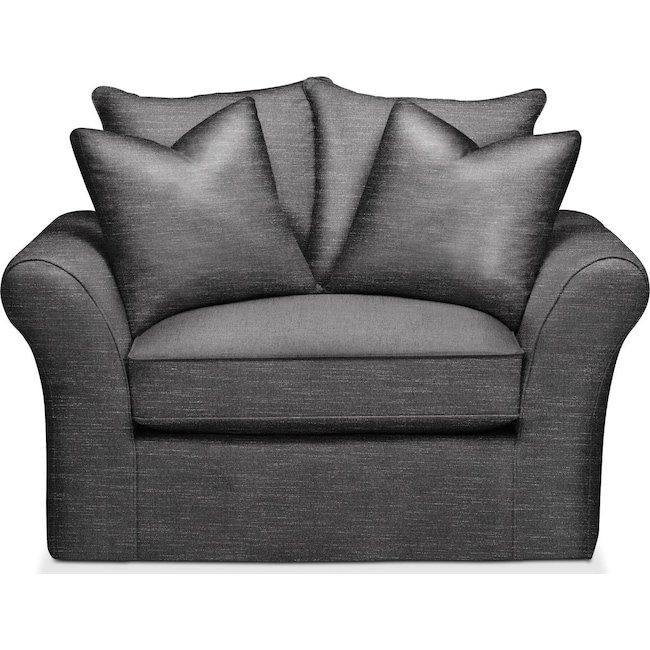 Living Room Furniture - Allison Chair and a Half- Comfort in Curious Charcoal