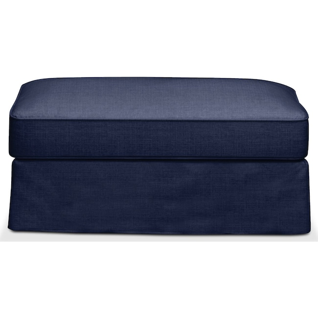 Accent and Occasional Furniture - Allison Ottoman- Comfort in Oakley III Ink