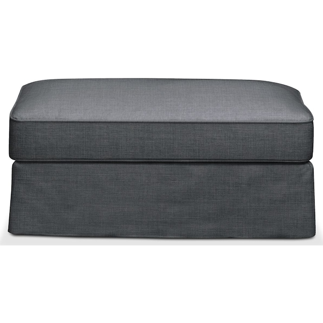 Living Room Furniture - Allison Ottoman- Comfort in Milford II Charcoal