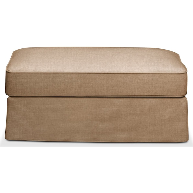 Living Room Furniture - Allison Ottoman- Comfort in Hugo Camel