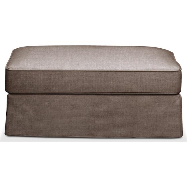 Living Room Furniture - Allison Ottoman- Comfort in Hugo Mocha