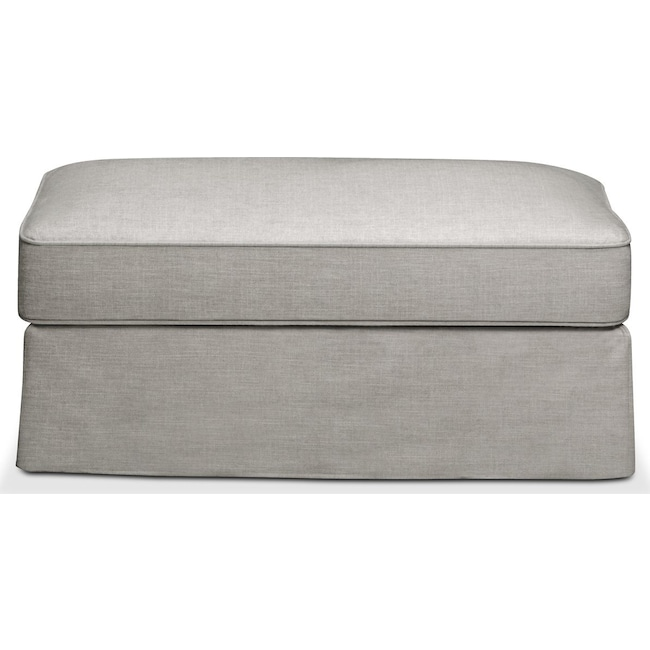 Living Room Furniture - Allison Ottoman- Comfort in Dudley Gray