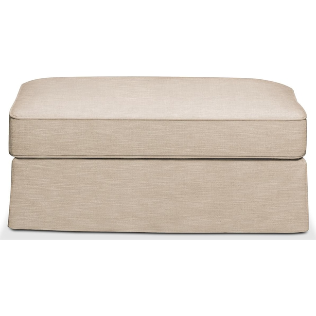 Accent and Occasional Furniture - Allison Ottoman- Comfort in Dudley Buff