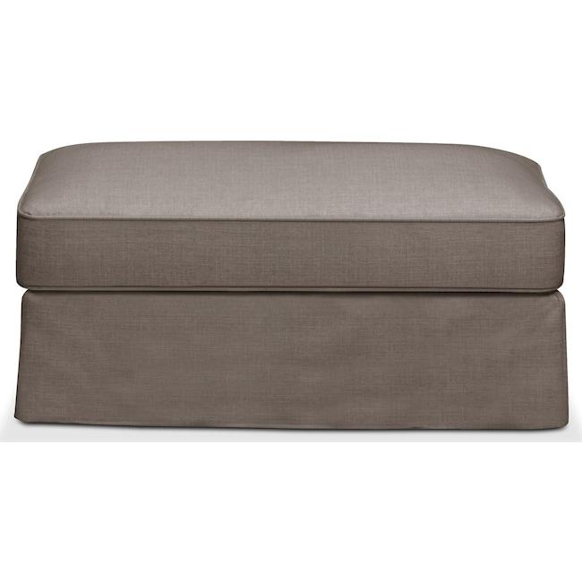 Living Room Furniture - Allison Ottoman- Cumulus in Oakley III Granite