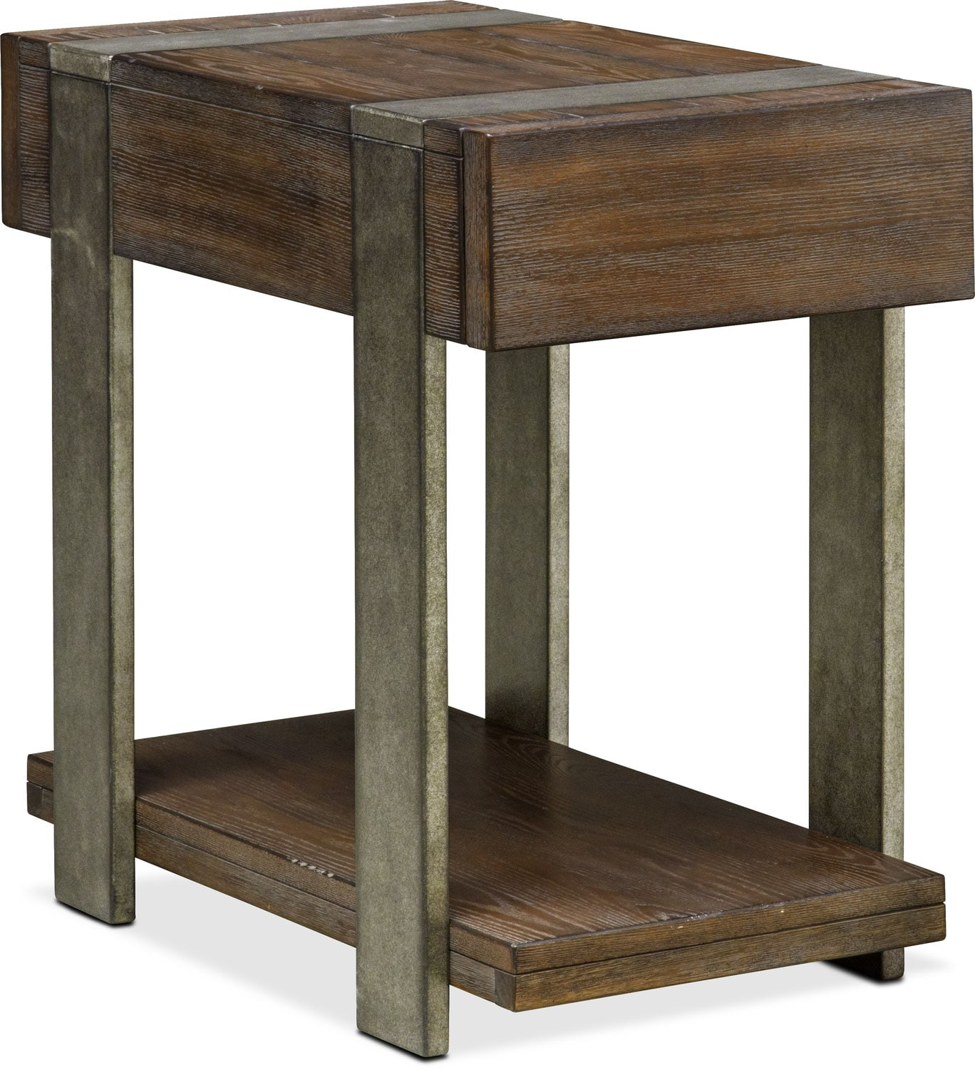 Union City Chairside Table Bark American Signature Furniture