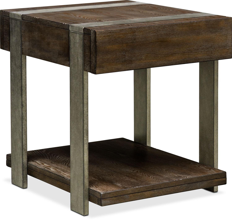 $299.99 Union City End Table   Bark