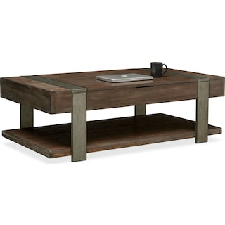 Union City Lift Top Tail Table Bark
