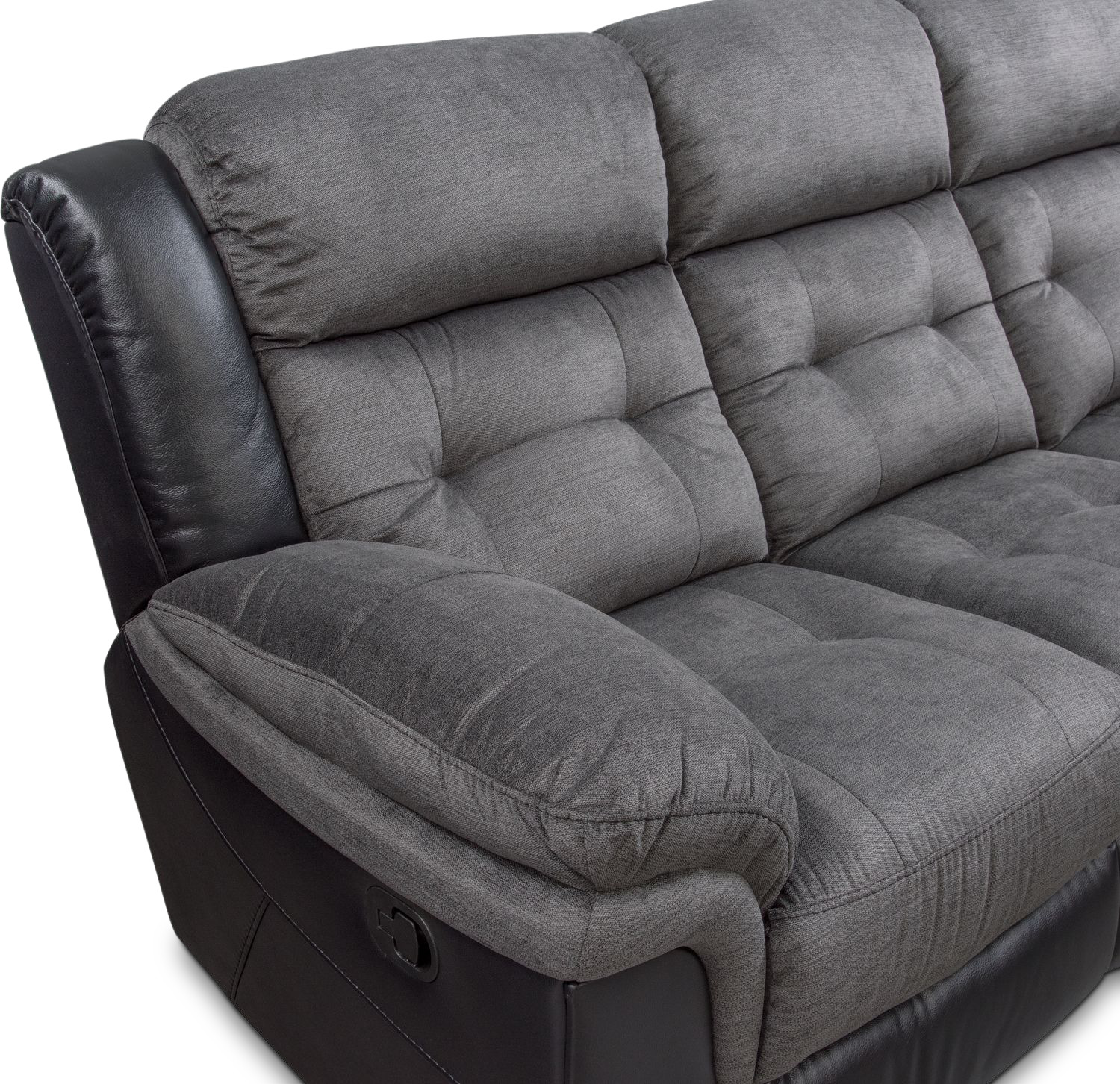 Black Reclining Sofa New Luxury Valencia 3 2 1 Seater
