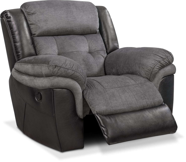 tacoma glider recliner black american signature furniture