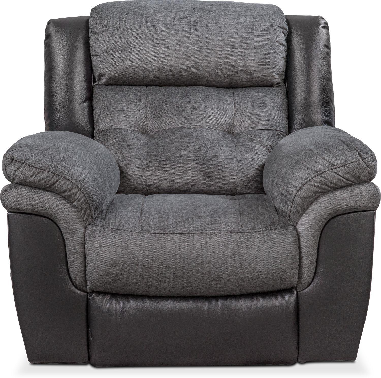 Click to change image.  sc 1 st  American Signature Furniture & Tacoma Glider Recliner - Black | American Signature Furniture islam-shia.org