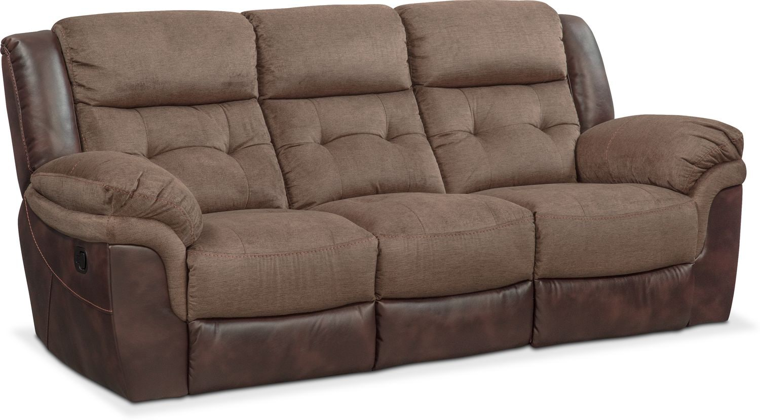 Tacoma Manual Reclining Sofa - Brown by One80  sc 1 st  American Signature Furniture & Tacoma Manual Reclining Sofa - Brown | American Signature Furniture islam-shia.org