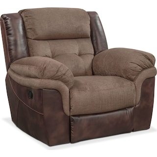 Tacoma Manual Glider Recliner - Brown