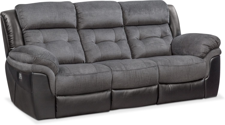 Living Room Furniture - Tacoma Dual-Power Reclining Sofa