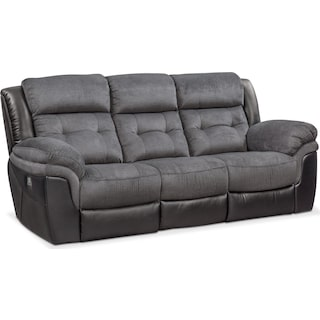 Tacoma Dual Power Reclining Sofa - Black