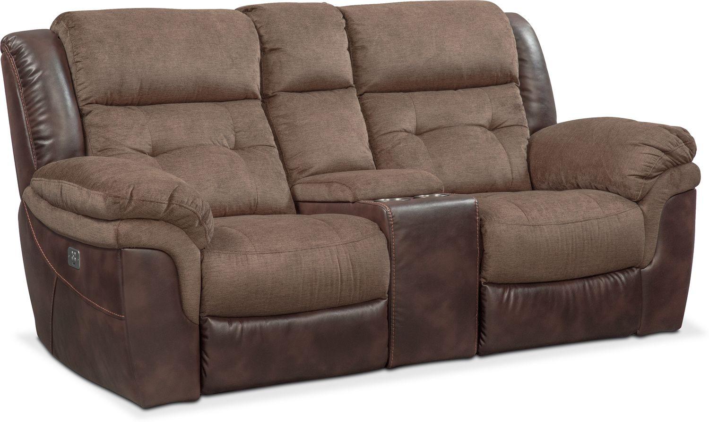 Tacoma Dual Power Reclining Sofa And Loveseat Set