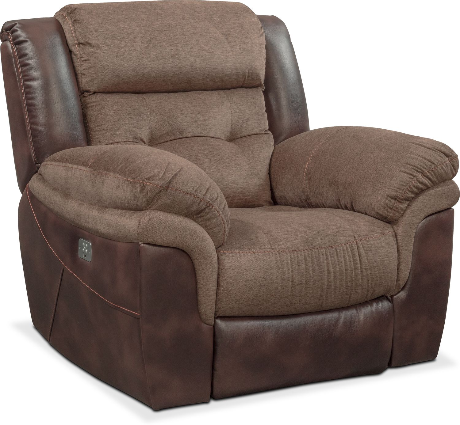 Tacoma Dual Power Reclining Sofa Loveseat And Recliner Set Brown American Signature Furniture