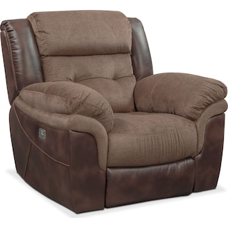 Tacoma Dual Power Recliner - Brown