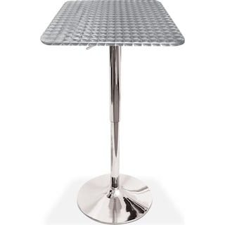 Fino Adjustable Bar Table - Chrome