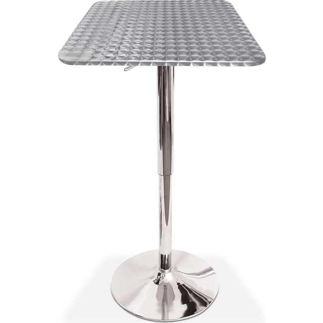 Dining Room Furniture - Fino Adjustable Bar Table - Chrome