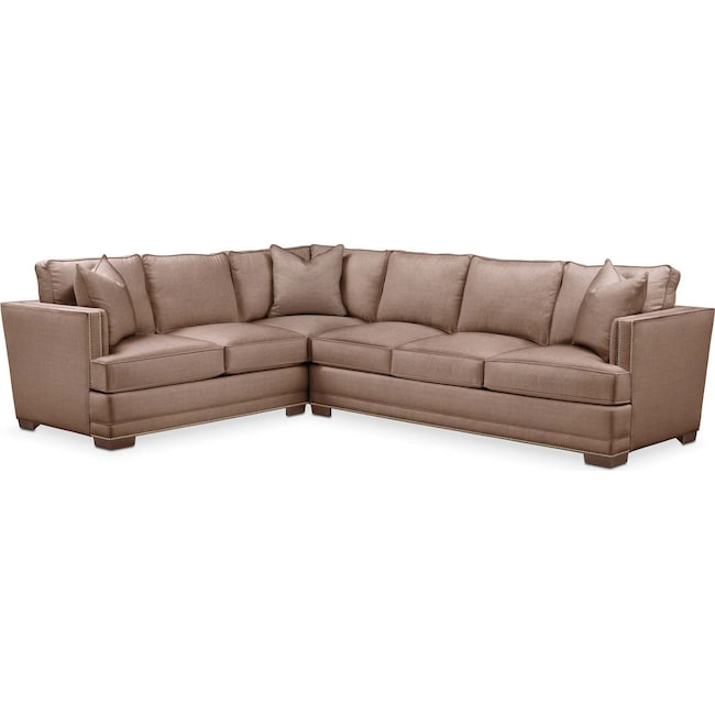 Living Room Furniture - Arden 2-Piece Sectional with Right-Facing Sofa - Cumulus in Abington TW Antler