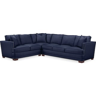 Arden Cumulus 2-Piece Large Sectional with Right-Facing Sofa - Oakley III Ink