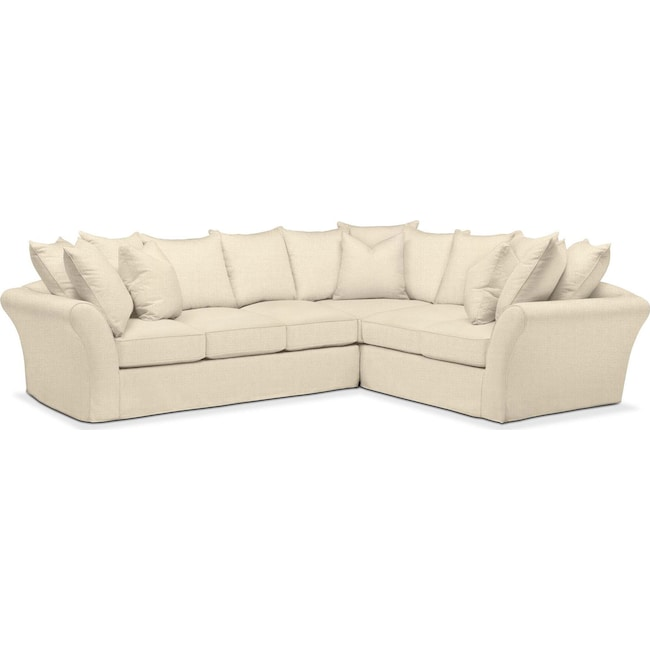 Living Room Furniture - Allison 2 Pc. Sectional with Left Facing Sofa- Comfort in Anders Cloud
