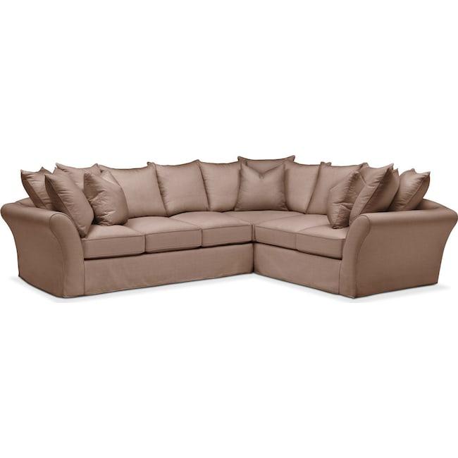 Living Room Furniture - Allison 2-Piece Sectional with Left-Facing Sofa - Comfort in Abington TW Antler