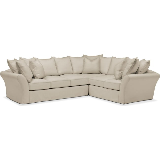 Living Room Furniture - Allison 2-Piece Sectional with Left-Facing Sofa - Comfort in Abington TW Barley