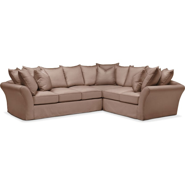 Living Room Furniture - Allison 2-Piece Sectional with Left-Facing Sofa - Cumulus in Abington TW Antler