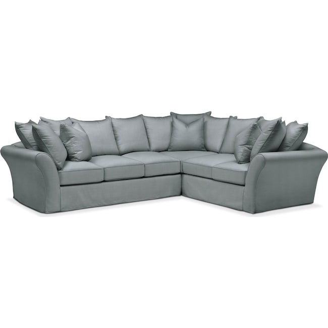 Living Room Furniture - Allison 2 Pc. Sectional with Left Facing Sofa- Cumulus in Abington TW Seven Seas