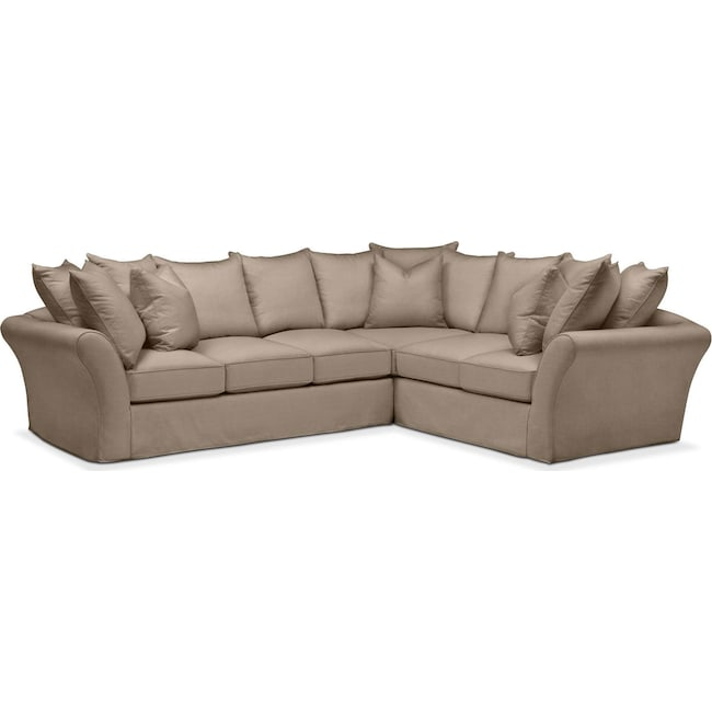 Living Room Furniture - Allison 2 Pc. Sectional with Left Facing Sofa- Cumulus in Statley L Mondo
